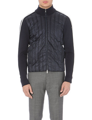 MONCLER Quilted and knit-panel jacket