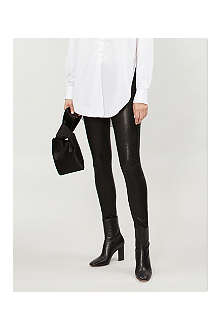RAG & BONE Skinny mid-rise leather trousers