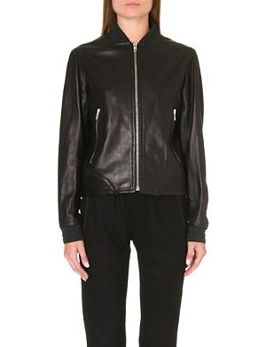 RAG & BONE Skidpan leather bomber jacket