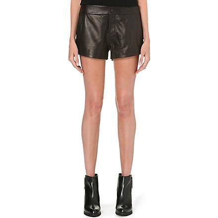RAG & BONE Nesi high-rise leather shorts (Black