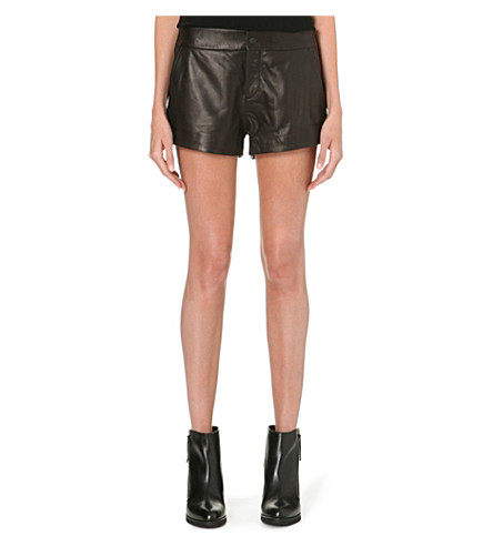 RAG & BONE Nesi high-rise leather shorts (Black