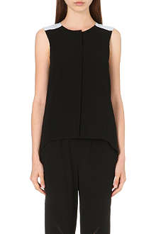 RAG & BONE Sleeveless crepe tail shirt