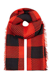 RAG & BONE Buffalo checked scarf
