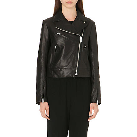 RAG & BONE Victorian leather biker jacket (Black