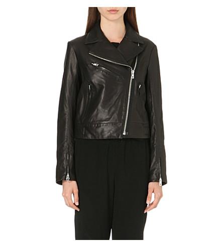 RAG & BONE Victorian leather biker jacket (Black