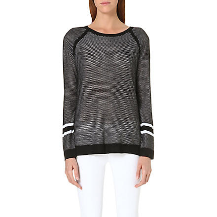 RAG & BONE Martina striped jumper (Kn/black