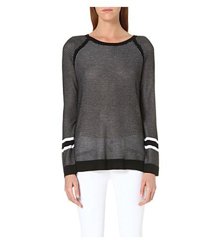 RAG & BONE Martina striped jumper (Kn/black