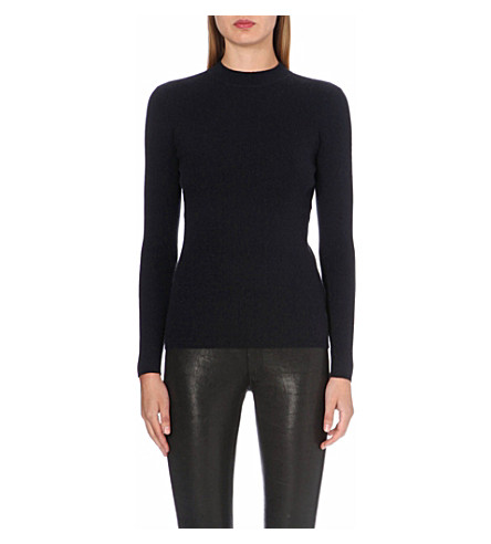 RAG & BONE Bianca wool and cashmere-blend jumper (Black