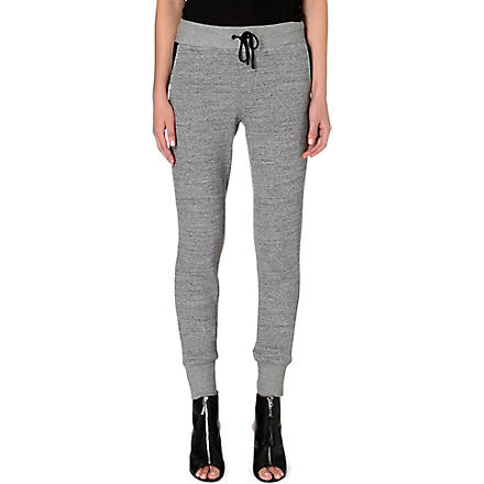 RAG & BONE Panelled jersey jogging bottoms (Grey