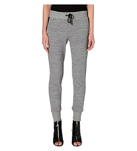 RAG & BONE Panelled jersey jogging bottoms (Grey