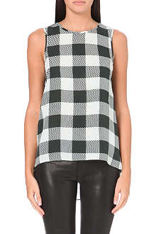 RAG & BONE Harper checked silk top