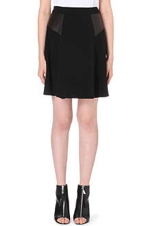 RAG & BONE Gayle crepe and leather skirt