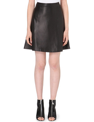 RAG & BONE Gayle leather skirt