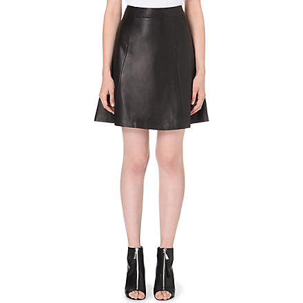RAG & BONE Gayle leather skirt (Black