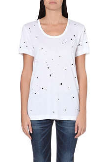 RAG & BONE Paint splatter cotton t-shirt