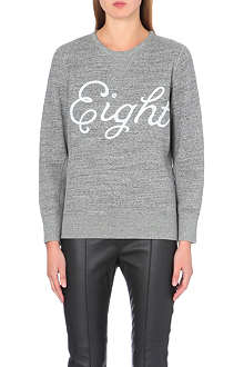 RAG & BONE Eight cotton-jersey sweatshirt