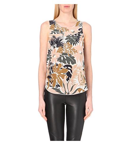 RAG & BONE Patricia leaf-print silk top (Spruce combo