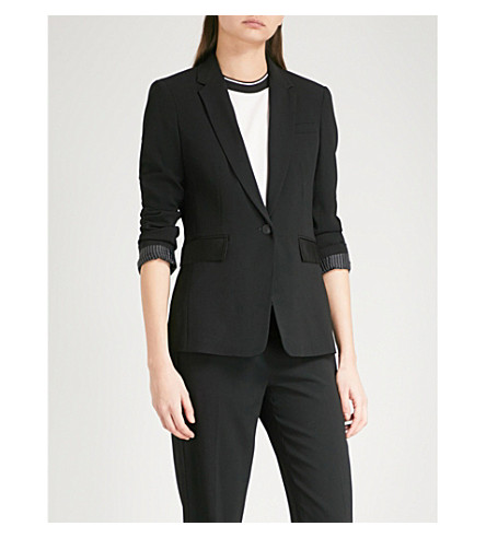 RAG & BONE Windsor single-breasted crepe jacket (Black