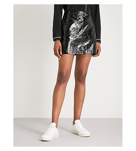 RAG & BONE Toni patent-leather mini skirt (Black