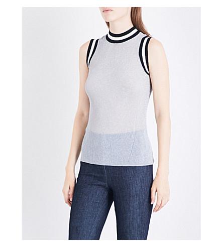 RAG & BONE Priya metallic-knit top (Silver