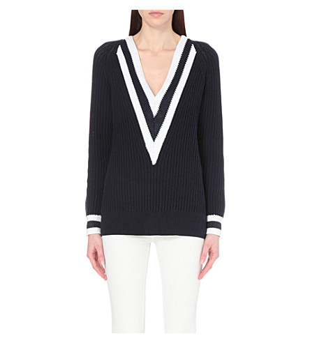 RAG & BONE Talia knitted jumper (Navy