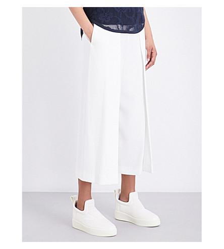 RAG & BONE Rowe high-rise wide-leg cropped crepe trousers (White