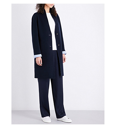 RAG & BONE Melbourne shawl-lapel wool and cashmere-blend coat (Salute/s.blu