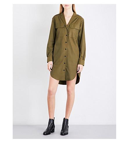 RAG & BONE Mason twill shirt dress (Dark+olive