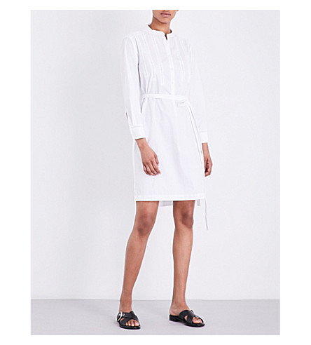 RAG & BONE Walta textured-detail cotton dress (White