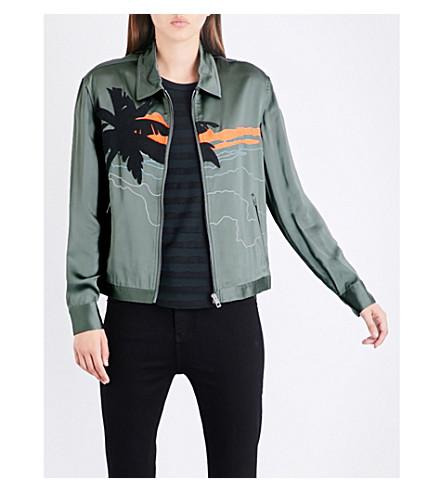 RAG & BONE Roth embroidered satin jacket (Vintage+army