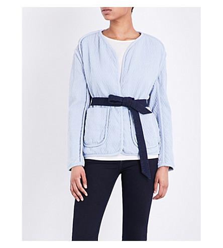 RAG & BONE Montana tie-front quilted cotton jacket (Pale+blue