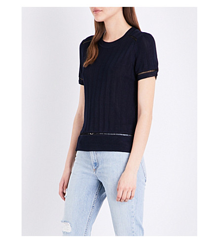 RAG & BONE Kaitlin knitted T-shirt (Navy