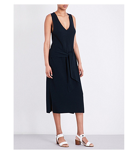 RAG & BONE Michelle tie-front cotton-blend dress (Navy