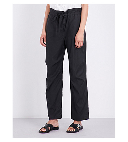 RAG & BONE Seawater straight mid-rise woven trousers (Black