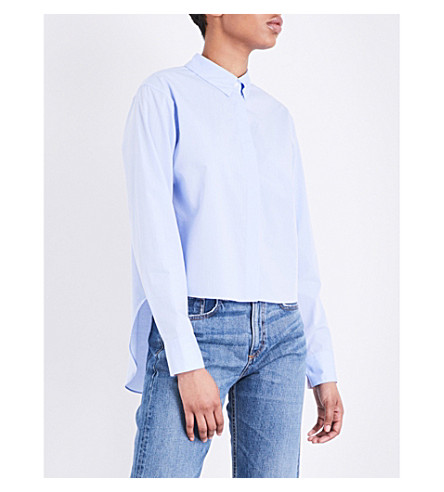 RAG & BONE Calder buttoned back cotton shirt (Baby+blue