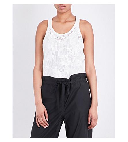 RAG & BONE Stella mesh-overlay cotton top (Blanc