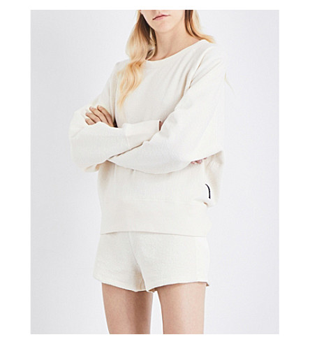 RAG & BONE Max oversized cotton-towelling sweatshirt (Ivory