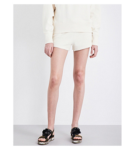RAG & BONE Max cotton-towelling shorts (Ivory