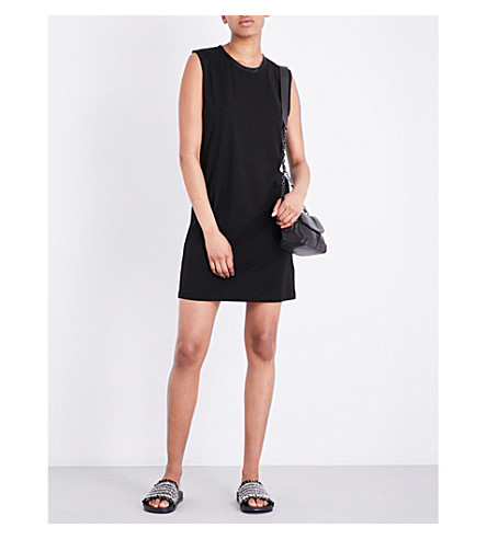 RAG & BONE Silk-trim stretch dress (Black