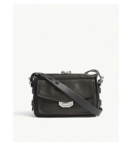 RAG & BONE Field small leather messenger bag (Black