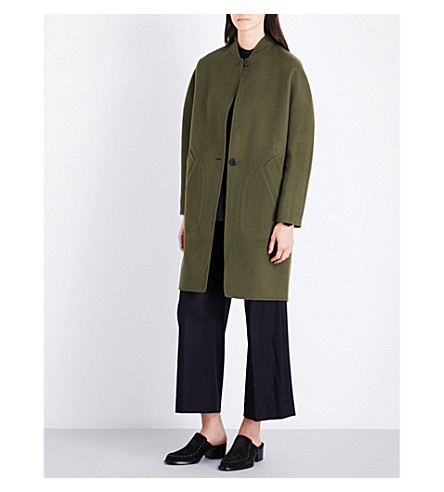 RAG & BONE Darwen reversible wool and cashmere-blend coat (Olive
