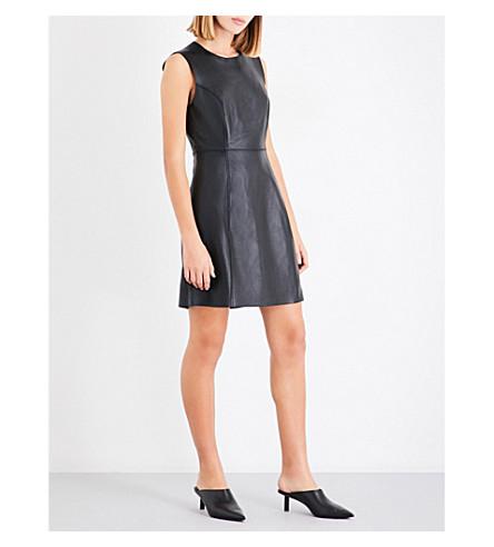 RAG & BONE Loxley leather dress (Black