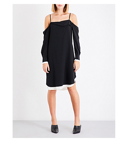 RAG & BONE Karley silk-crepe dress (Black