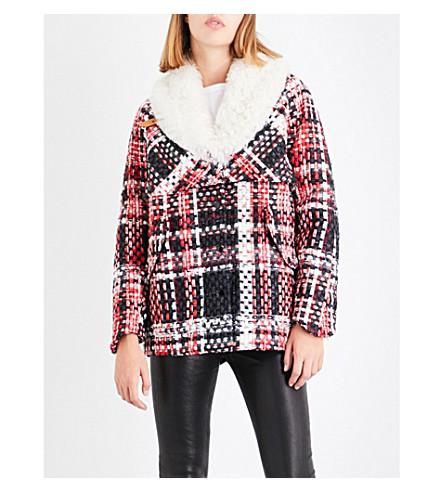 RAG & BONE Antoine tweed coat (Red+multi