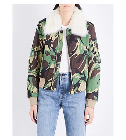 RAG & BONE Camouflage-print cotton flight jacket (Camo