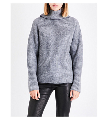 RAG & BONE Lyza wool-blend jumper (Grey+hthr