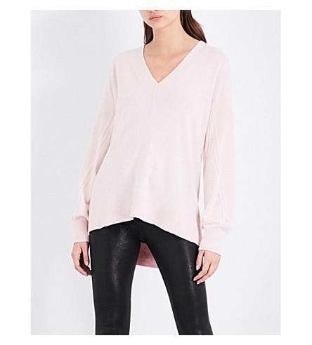 RAG & BONE V-neck cashmere jumper (Blush