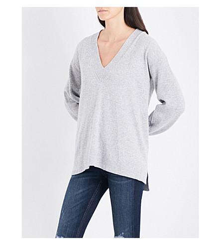RAG & BONE V-neck cashmere jumper (Lt+grey