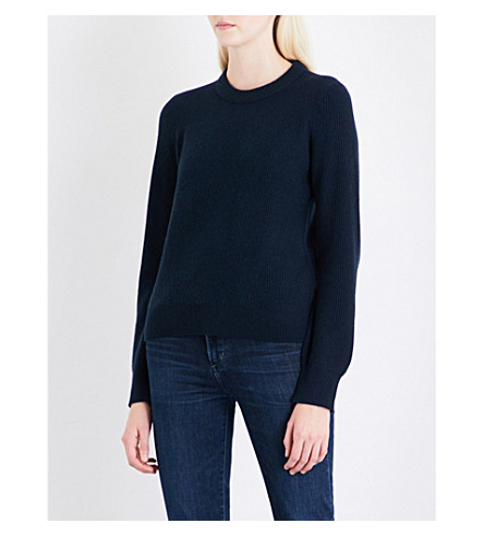 RAG & BONE Ace ribbed cashmere jumper (Navy