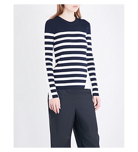 RAG & BONE Cecilee striped knitted jumper (Navy